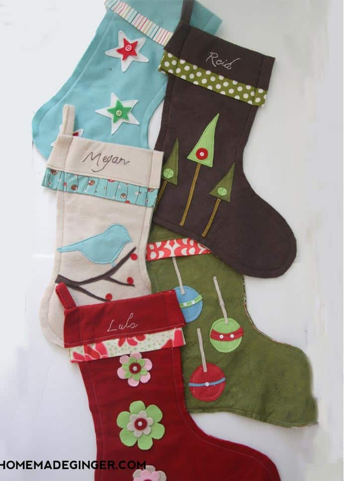 make your own diy stockings using this super easy method that even a beginner can do