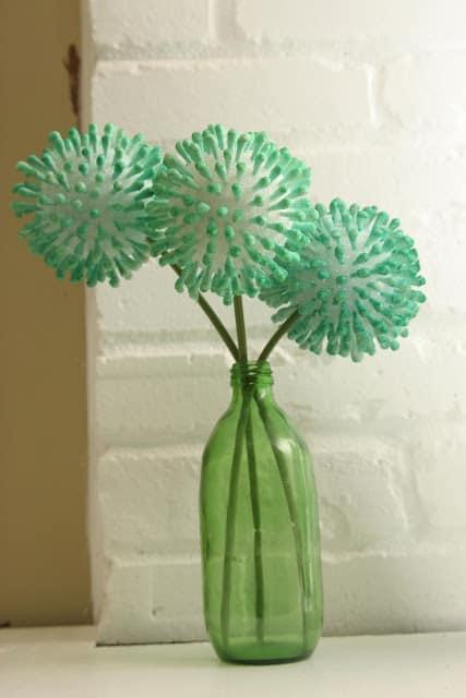 Anthropologie inspired q-tip flowers (original tutorial!)