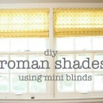 DIY Roman Shades Using Mini Blinds