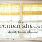 DIY Window Treatments: Roman Shades