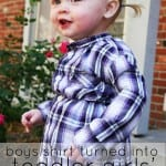 Repurposing Day 8: Toddler Girls' Plaid Tunic