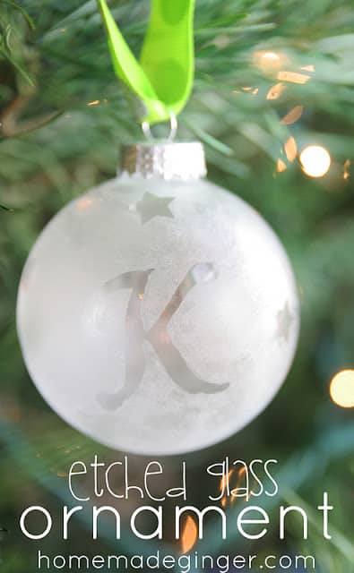 Etched ornament tutorial homemade ginger