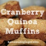 Real Food Recipe: Cranberry Quinoa Muffins
