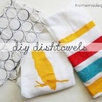 Kitchen Craft: Diy Dishtowels