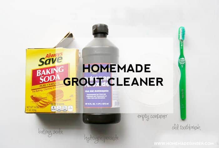 Homemade grout cleaner - works just as well as the store bought cleaners but without the harsh chemicals!