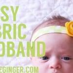 TUTORIAL: Easy Fabric Headband