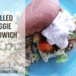 Grilled Veggie Sandwich with Yogurt Dill Sauce