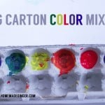 Kid Created: Egg Carton Color Mixing