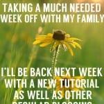 I'll be back next week!