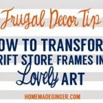Frugal Decor Tip: Transform Thrift Store Frames in to Lovely Art