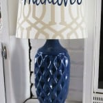 DIY Honeycomb Lamp Makeover