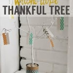 Washi Tape Thankful Tree & Thanksgiving Decor Inspiration