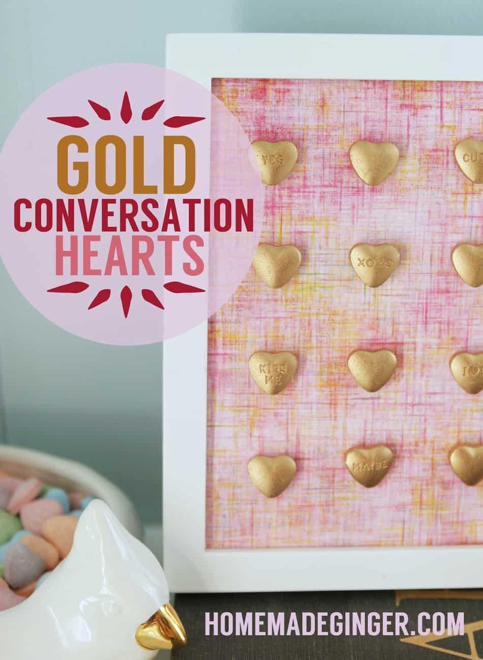 Gold Conversation Hearts