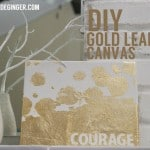 DIY Gold Leaf Canvas