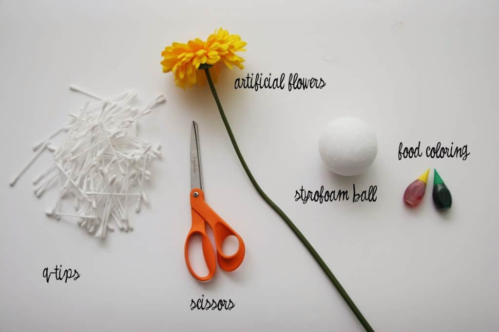 TUTORIAL: Q-Tip Flowers - Homemade Ginger
