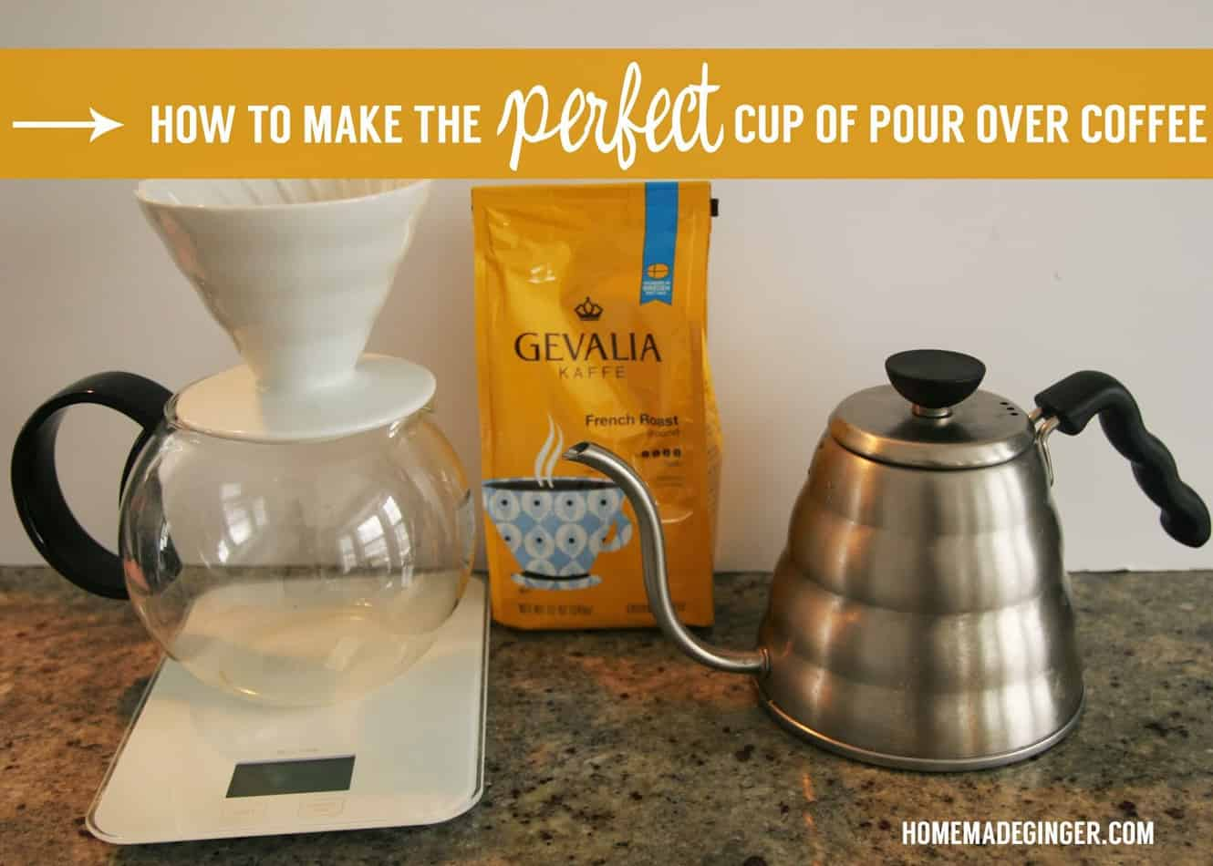 Pour Over Coffee Maker Tips : Tips for How to Make the Perfect Cup of Pour Over Gourmet Coffee - Homemade Ginger