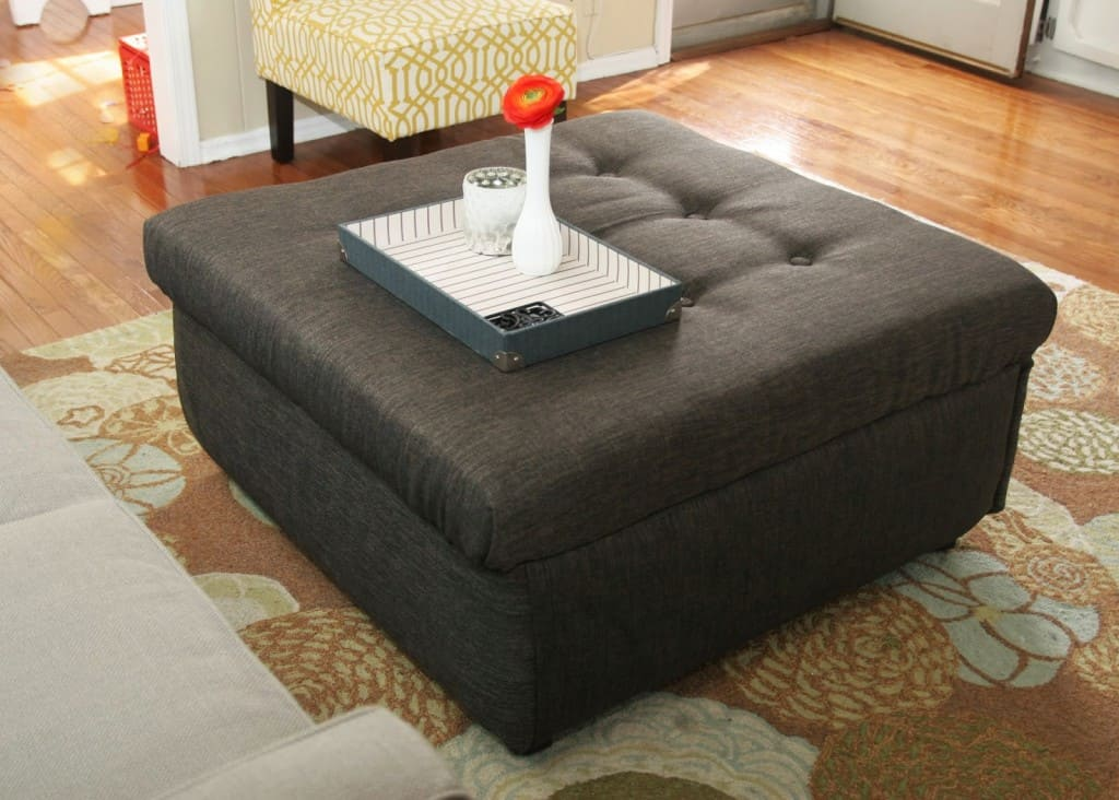 Turn an Ugly Coffee Table into an DIY Ottoman Homemade Ginger