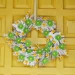 Fall Wreath Transformed for Spring