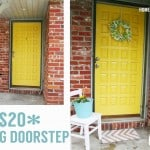 $20 DIY Spring Doorstep Makeover