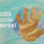 Mother's Day Craft: Gilded Watercolor Handprint