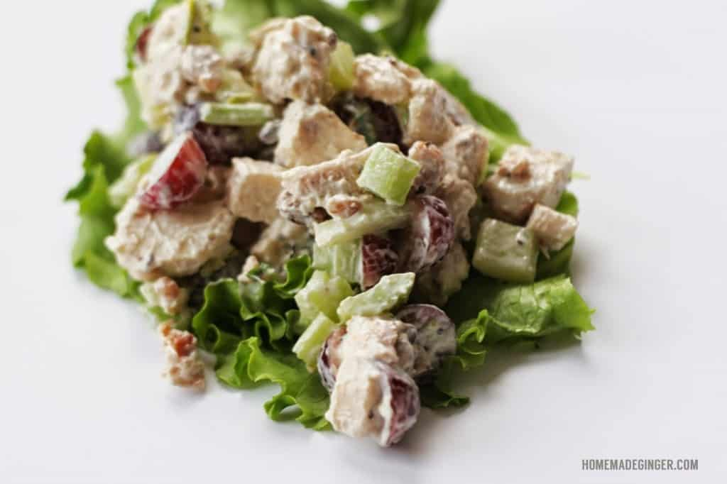 Once you try this simple chicken salad with bacon you won't ever go back! It's the ultimate healthy lunch option!