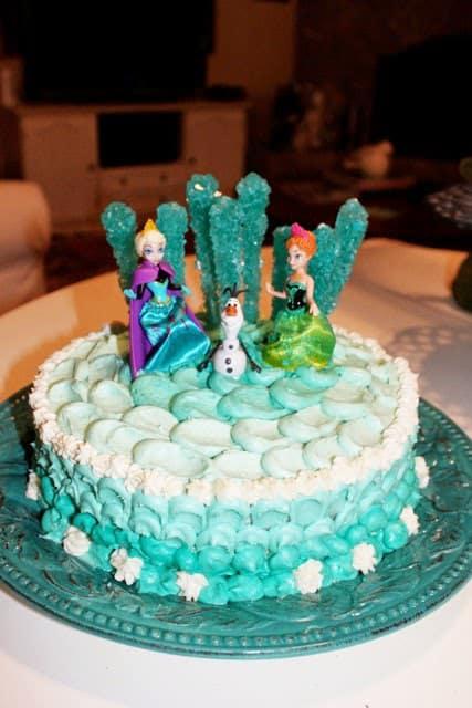 DIY Frozen Themed Cake Homemade Ginger
