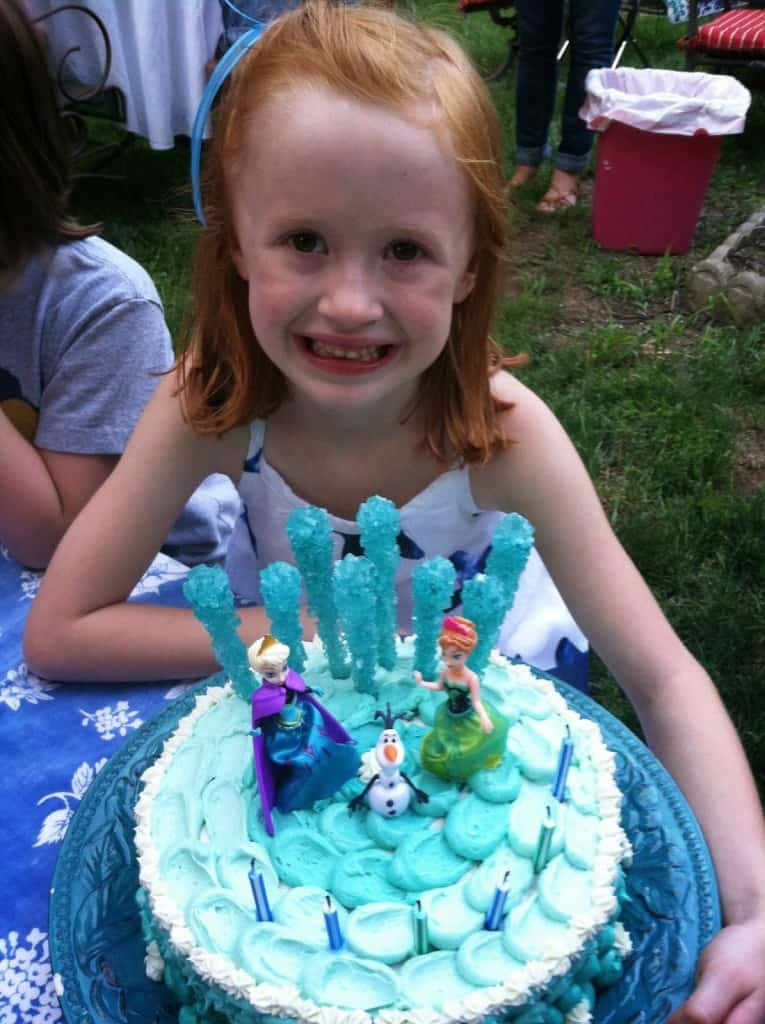 DIY Frozen Themed Cake Homemade Ginger
