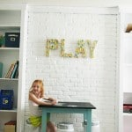Playroom Art Supply Storage