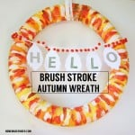 Brush Stroke Autumn Wreath
