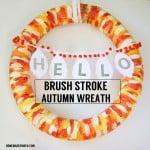 Brush Stroke Autumn Wreath