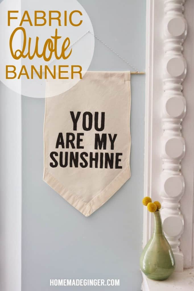 Create your own custom quote banner out of an old sheet! It couldn't be easier!!