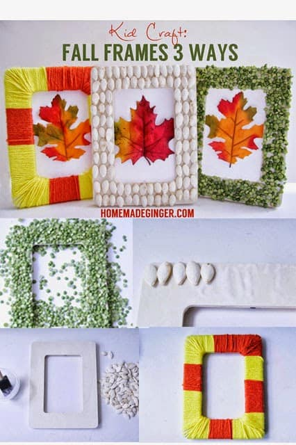fall here is here and so are fall decor projects ive come up with 3 easy frames that you or your kids can make to add some frugal decor to your home