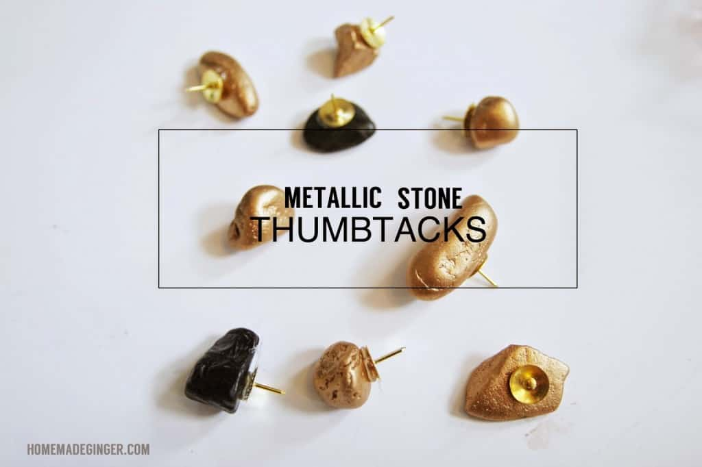 Metallic stone thumbtacks