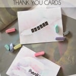 Chalk Feather Thank You Cards