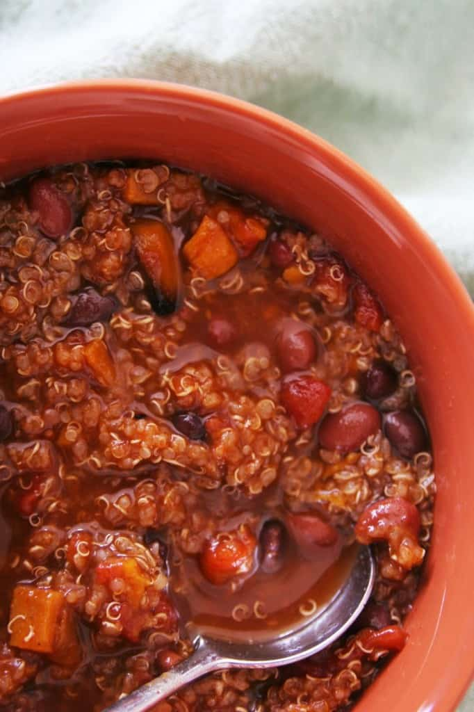 quinoa and sweet potato vegetarian chili