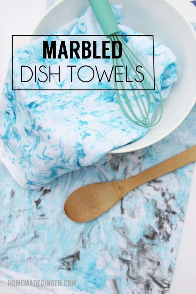 Diy Homemade Dish Ginger Towels Marbled QdxrEBoWCe