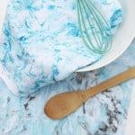DIY Marbled Dish Towels