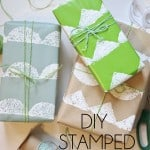 DIY Stamped Gift Wrap