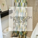 Tiny Bathroom Makeover On A Budget
