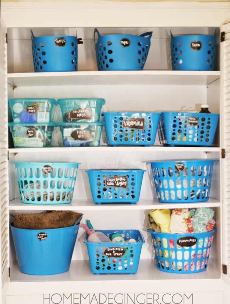 Organize your entire closet with containers from the dollar store for less than $20!