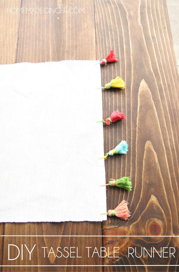 Create your own DIY table runner by adding handmade tassels!