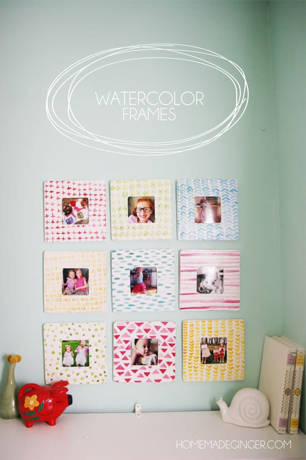Watercolor Frames - Homemade Ginger