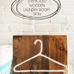Stenciled Wooden Laundry Room Sign