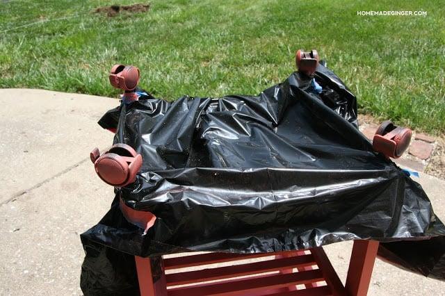 Patio utility cart makeover