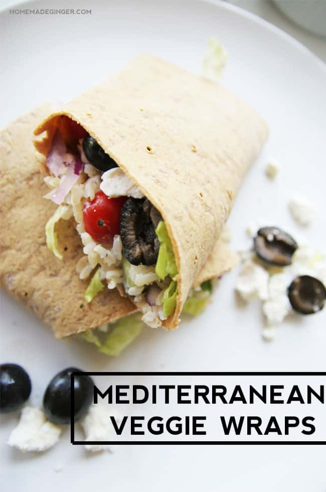 Mediterranean Veggie Wrap recipe. SO easy and yummy!!