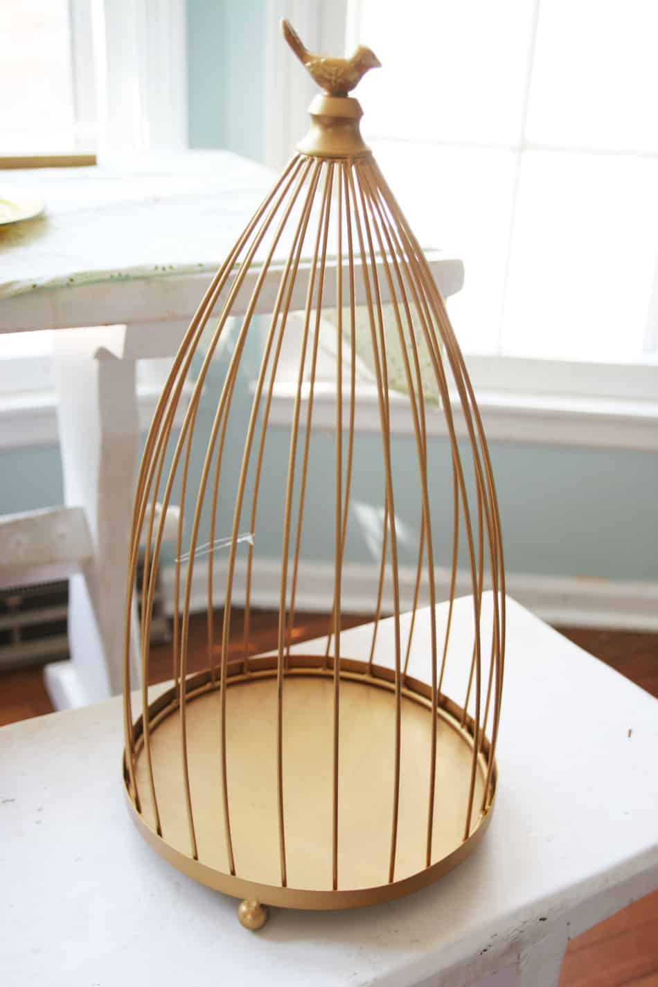 Diy cage pendant light make some diy lighting using an inexpensive cage this custom pendant light fixture is great aloadofball Gallery