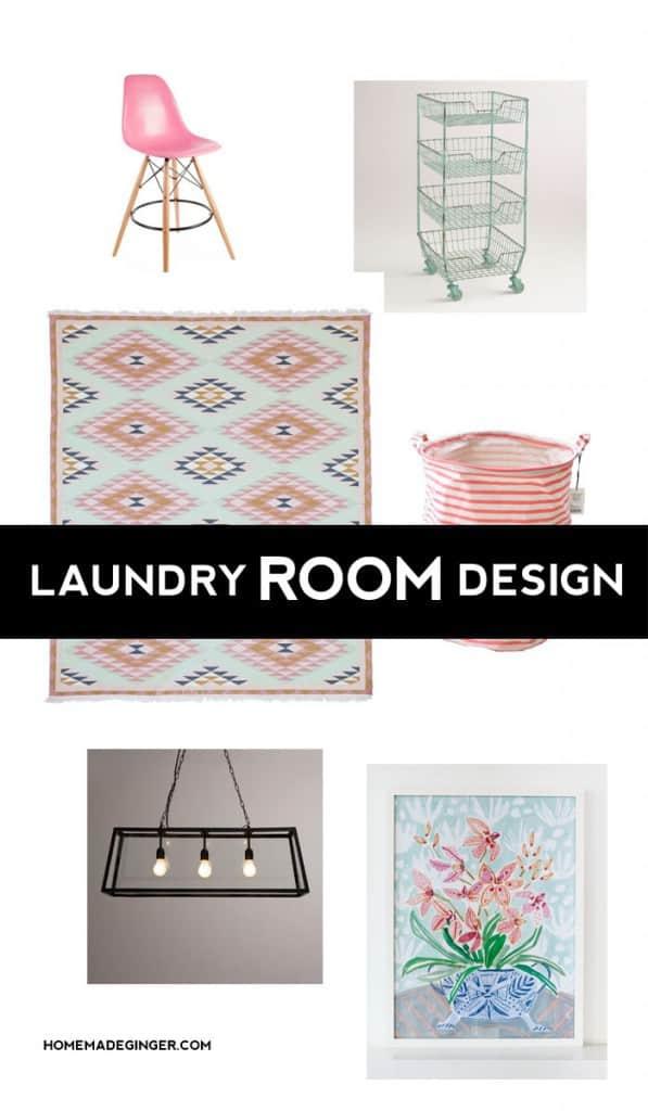 Modern Laundry Room Mood Board