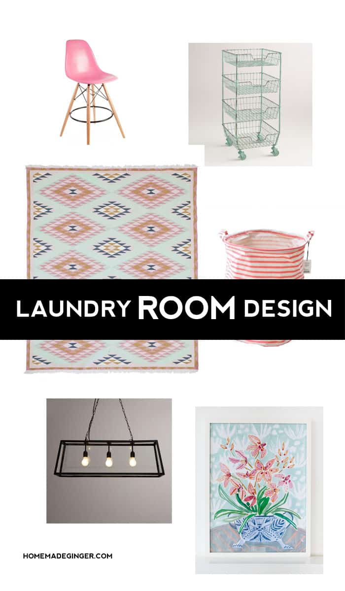 Modern Laundry Room Mood Board