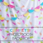 Confetti Photo Booth Backdrop