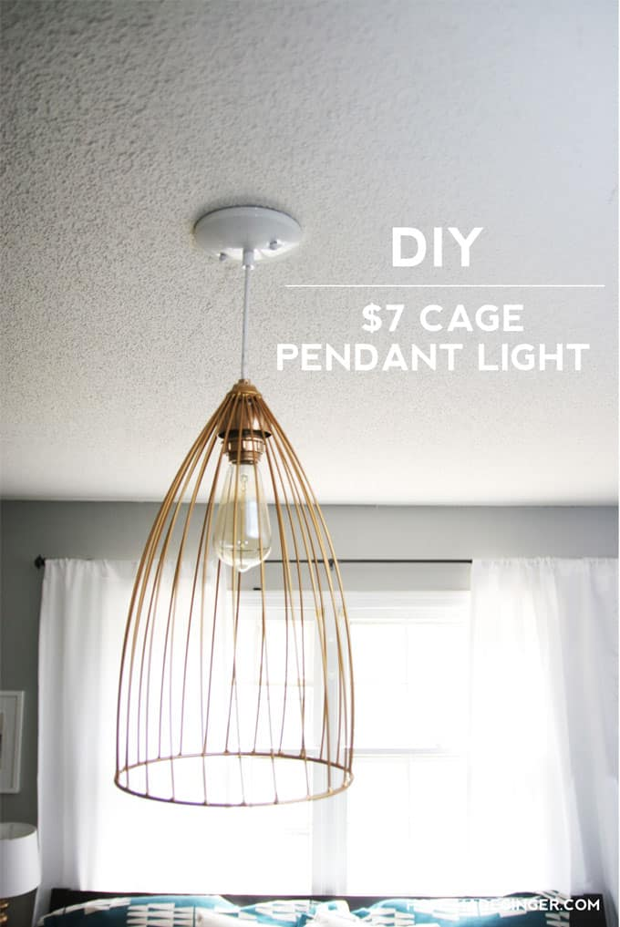 Diy cage pendant light for Diy pendant light